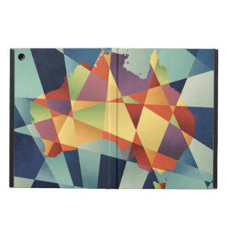 Australia Geometric Retro Map iPad Air Cover
