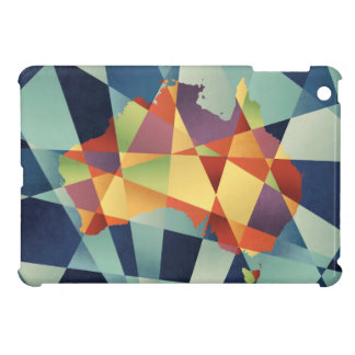 Australia Geometric Retro Map iPad Mini Cases