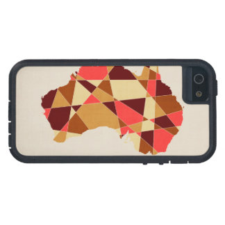 Australia Geometric Retro Map iPhone SE/5/5s Case