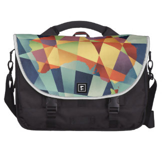 Australia Geometric Retro Map Bag For Laptop