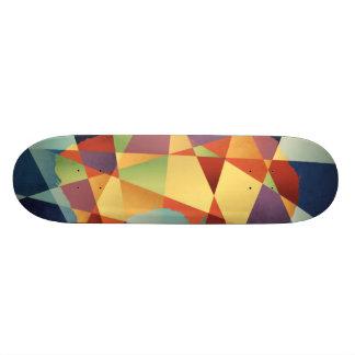 Australia Geometric Retro Map Skateboard