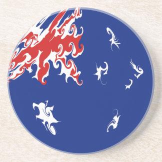 Australia Gnarly Flag Beverage Coasters