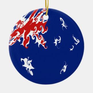 Australia Gnarly Flag Ceramic Ornament