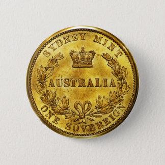 Australia Gold Sovereign Vintage Button