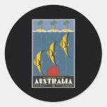 Australia Great Barrier Reef Queensland Round Stickers