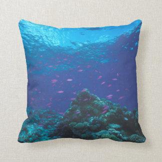 Australia, Great Barrier Reef. Swarming Purple Throw Pillow