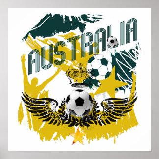 Australia grunge socceroos celebration gifts poster