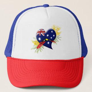 Australia Heart with Boomerang Trucker Hat