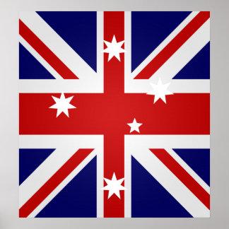 Australia High quality Flag Print