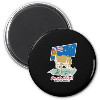 australia hop on over kangaroo refrigerator magnet