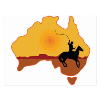 Australia Horseman Postcard