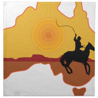 Australia Horseman Printed Napkin