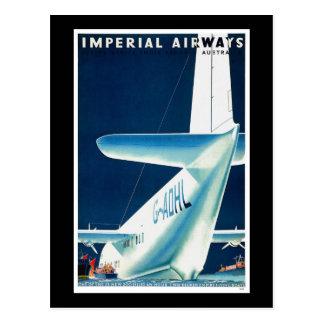 Australia Imperial Airways Postcard