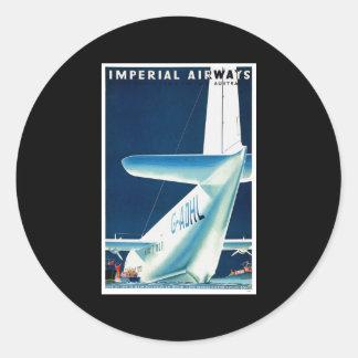 Australia Imperial Airways Round Sticker
