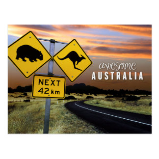 Australia impresionante tarjeta postal