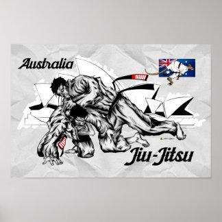 Australia Jiu-Jitsu Poster