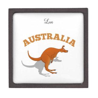 Australia, jumping Kangaroo Jewelry Box