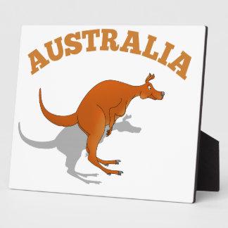 Australia, jumping Kangaroo Plaque