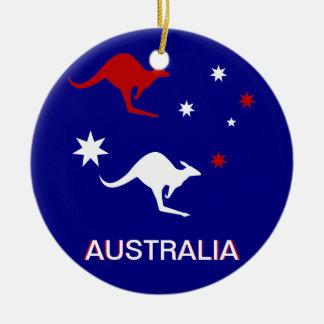 Australia Kangaroo and Southern Cross design Ornament