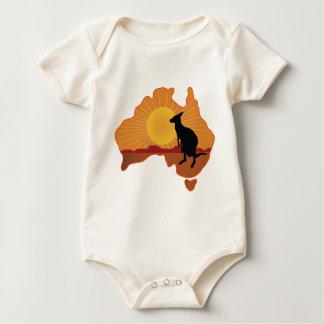 Australia Kangaroo Baby Bodysuit