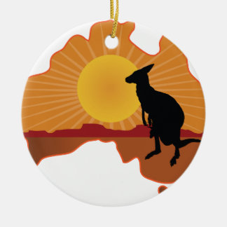 Australia Kangaroo Ceramic Ornament