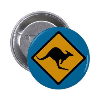 Australia Kangaroo Crossing Sign Button