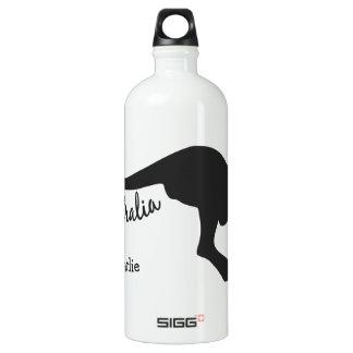 Australia Kangaroo custom name & color travellers Aluminum Water Bottle
