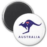 AUSTRALIA KANGAROO FLAG MAGNET