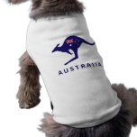 AUSTRALIA KANGAROO FLAG PET T-SHIRT