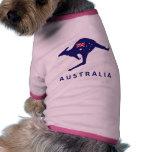 AUSTRALIA KANGAROO FLAG PET TEE SHIRT