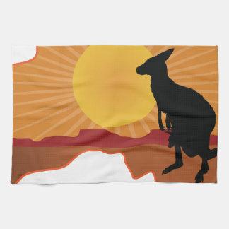 Australia Kangaroo Hand Towels