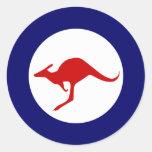 Australia kangaroo military aviation roundel classic round sticker