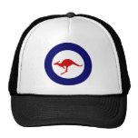 Australia kangaroo military aviation roundel trucker hat