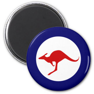 Australia kangaroo military aviation roundel 2 inch round magnet