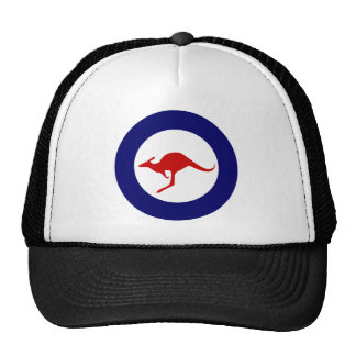 Australia kangaroo military aviation roundel trucker hat