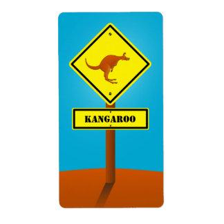 Australia kangaroo sign gift label shipping label
