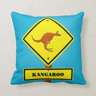 Australia kangaroo sign Pillows