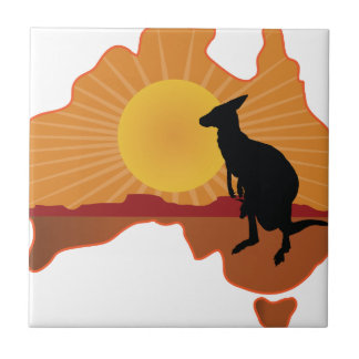 Australia Kangaroo Tile