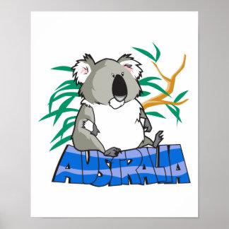 Australia koala bear design poster
