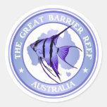 Australia - la gran barrera de coral etiquetas