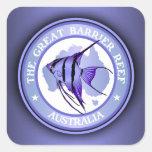 Australia - la gran barrera de coral calcomanía cuadradase