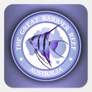 Australia - la gran barrera de coral calcomanía cuadradas personalizadas