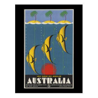Australia la gran barrera de coral Queensland Tarjetas Postales