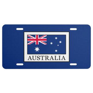 Australia License Plate