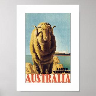 Australia - Lloyd Triestino (blanco) Posters