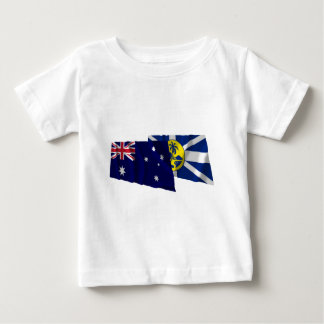 Australia & Lord Howe Island Waving Flags Tee Shirt
