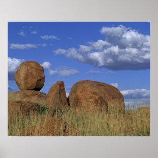 Australia, los mármoles del diablo. Piedra arenisc Impresiones