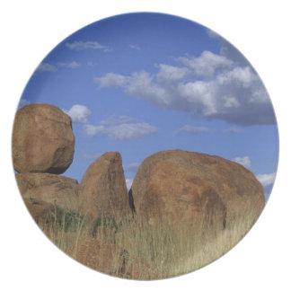 Australia los mármoles del diablo Piedra arenisc Plato De Cena