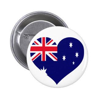 Australia Love 2 Inch Round Button
