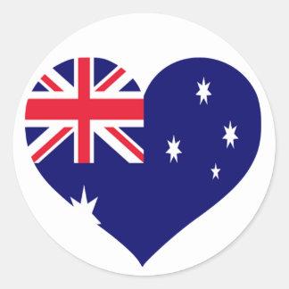 Australia Love Classic Round Sticker